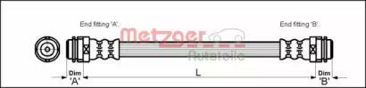 Тормозной шланг на Сеат Леон 'METZGER 4114798'.