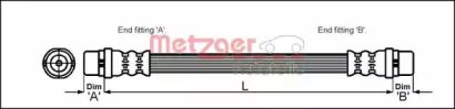 Гальмівний шланг METZGER 4110350.