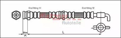 Гальмівний шланг на MAZDA MX-3 'METZGER 4114780'.