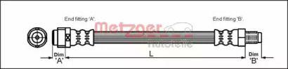 Гальмівний шланг на Мерседес W210 METZGER 4110581.