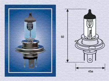 Лампа фары 'MAGNETI MARELLI 002156100000'.