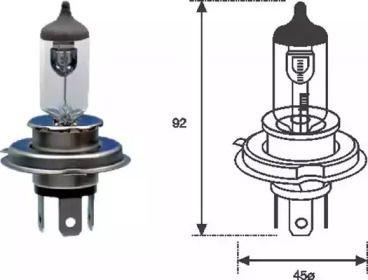 Лампа фари MAGNETI MARELLI 002555100000.