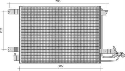 Радиатор кондиционера на SKODA OCTAVIA A5 MAGNETI MARELLI 350203361000.
