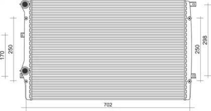Радиатор охлаждения двигателя на Шкода Октавия А5  MAGNETI MARELLI 350213852000.