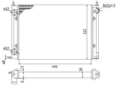 Радиатор охлаждения двигателя на Фольксваген Пассат MAGNETI MARELLI 350213202003.