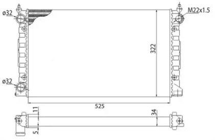 Радіатор охолодження двигуна 'MAGNETI MARELLI 350213647003'.