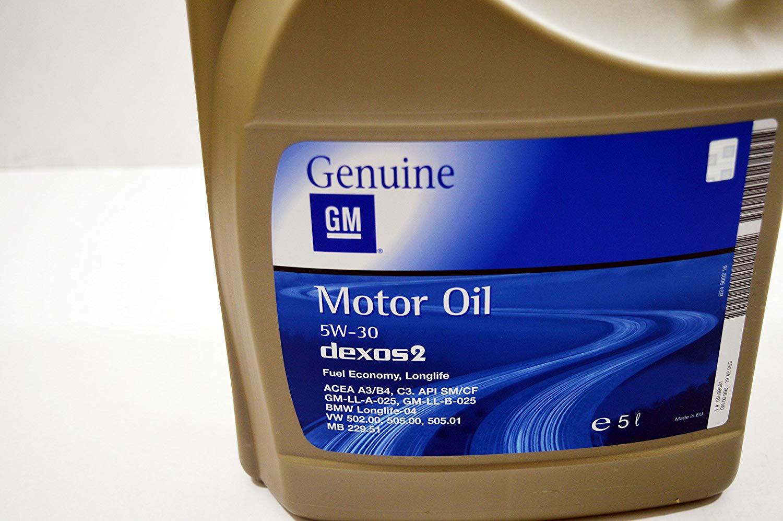 Моторне масло DEXOS 2 5W-30 5 л 'GM 93165557'.