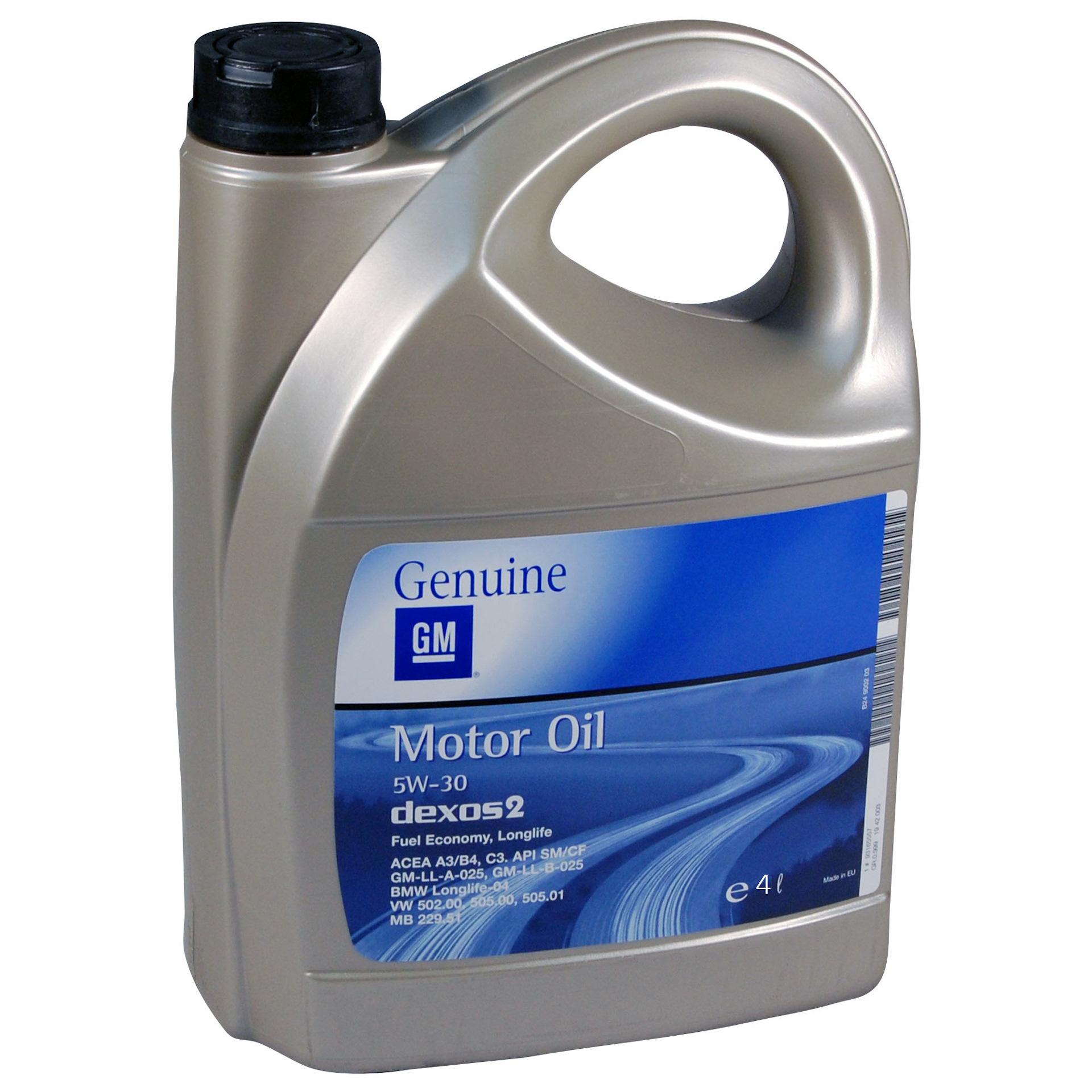 Моторное масло DEXOS 2 5W-30 4 л GM 93165556.