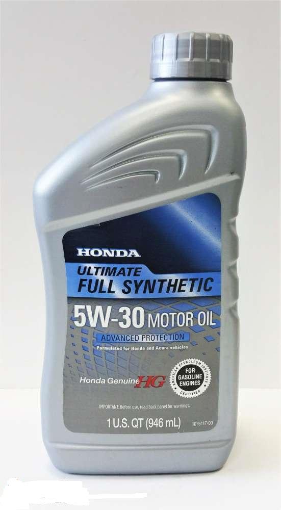Моторное масло HONDA HG ULTIMATE 5W-30 1 л 'HONDA/ACURA 08798-9039'.