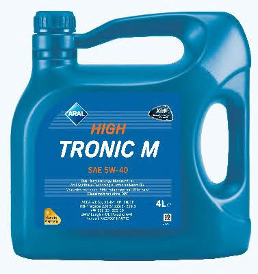 Моторне масло HIGH TRONIC M 5W-40 4 л 'ARAL 154FE8'.