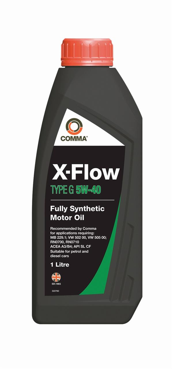 Моторное масло X-FLOW TYPE G 5W-40 4 л COMMA XFG4L.