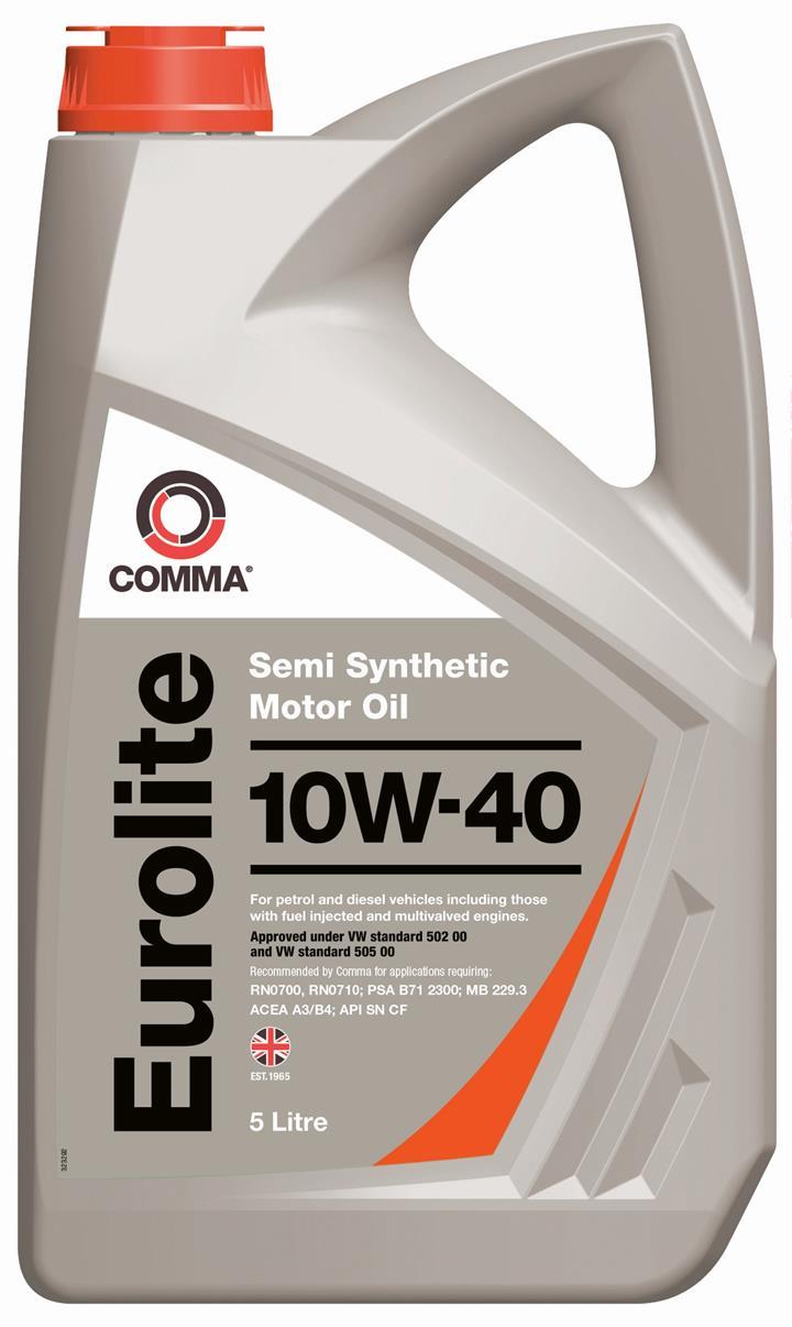 Моторне масло EUROLITE 10W-40 5 л 'COMMA EUL5L'.