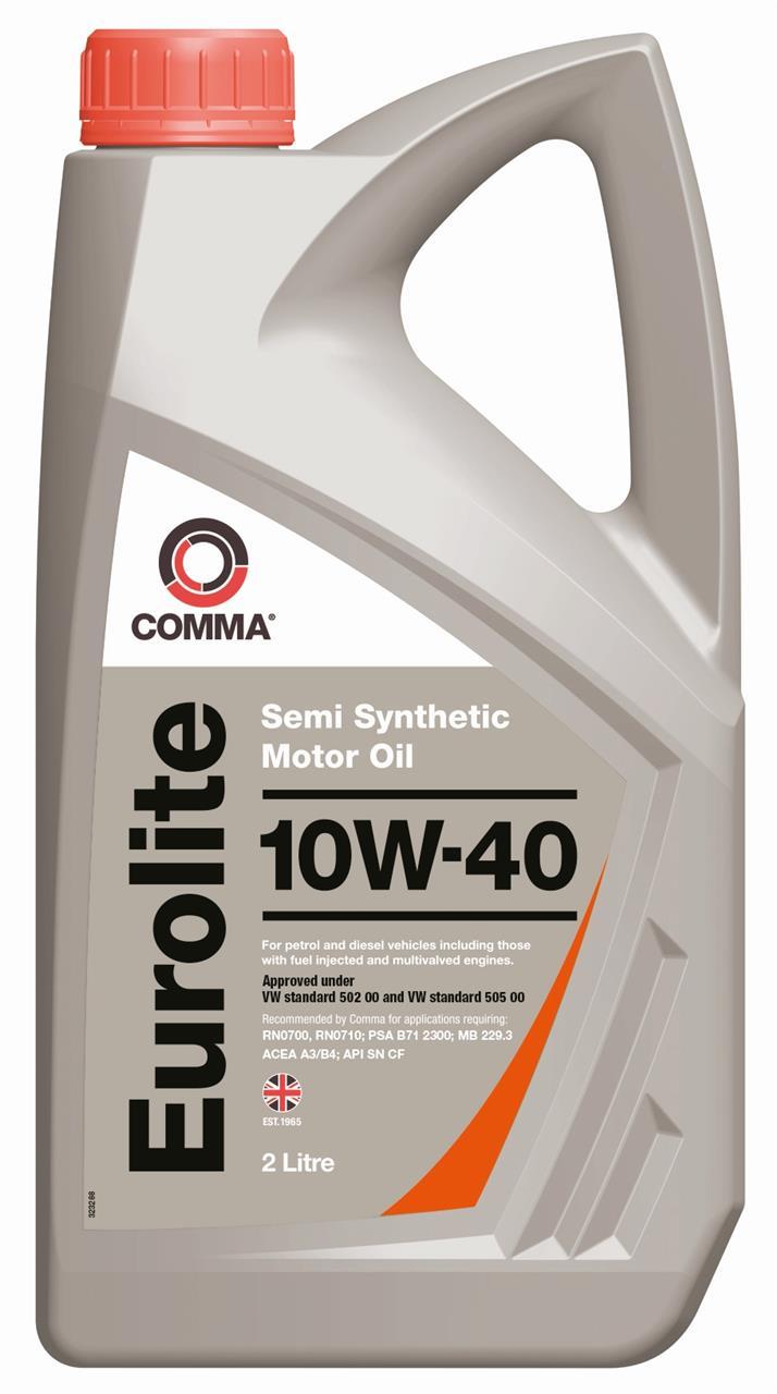 Моторне масло EUROLITE 10W-40 2 л COMMA EUL2L.