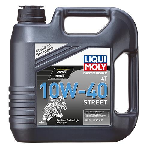 Моторне масло MOTORBIKE 4T STREET 10W-40 4 л LIQUI MOLY 7512.