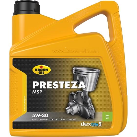 Моторне масло PRESTEZA MSP 5W-30 4 л KROON OIL 35137.
